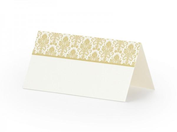 Paris Dekorace Svatební jmenovky na stůl s jemným zlatým dekorem