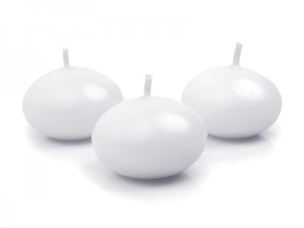 Paris Dekorace Plovoucí svíčka bílá, 40mm