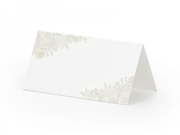 Paris Dekorace Svatební jmenovky na stůl s jemným šedým dekorem