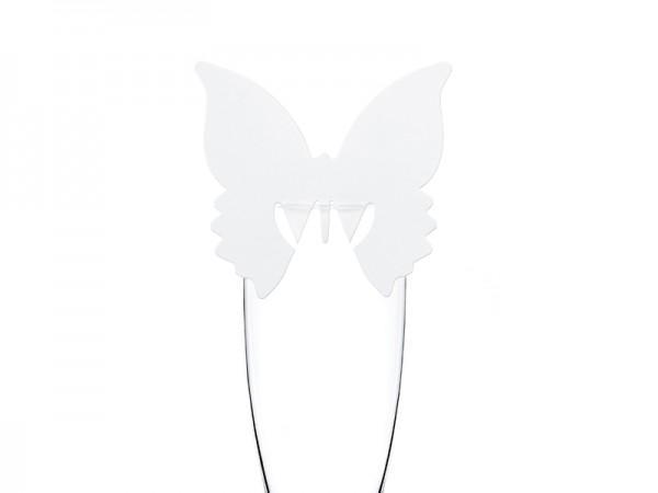 Paris Dekorace Svatební jmenovky motýl