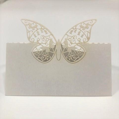 Paris Dekorace Svatební jmenovky na stůl-motýl
